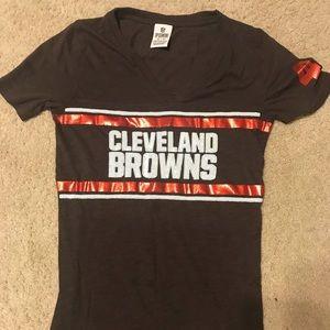 Pink Cleveland Browns Shirt XS EUC